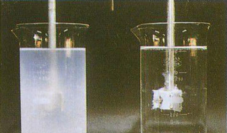 废水污水絮凝前后对比-东保絮凝剂